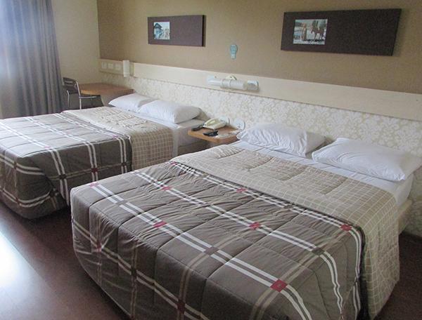 Apartamento duplo da unidade (Foto Panorama do Turismo)