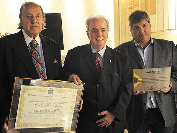 Michelão, Nilo Félix, secretário de Turismo do Rio de Janeiro, e o vereador Marcelo (Foto Divulgação)