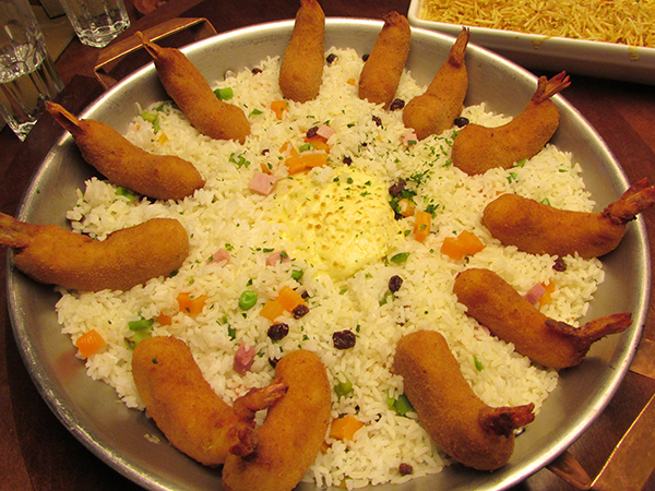 São pelo menos 19 tipos de prato com camarões (Foto Panorama do Turismo)