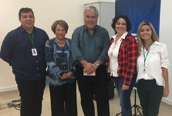 No encontro, Marcelo Amaral, gerente executivo do bureau, Deise Bezerra, Jacó Gimennes, Wagnilda e Krysla Rodrigues (Foto Divulgação | PGCGC&VB)