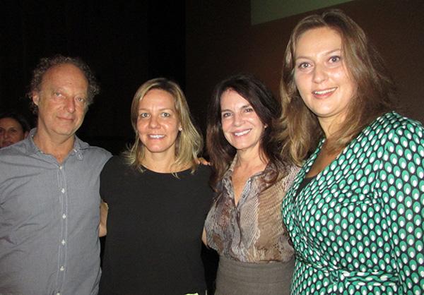 Bob, Giulia, Bel e Carolina de Haro, da Mapie, na apresentação do projeto a jornalistas curitibanos (Fotos Panorama do Turismo)