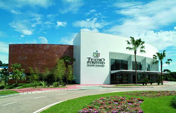 Teatro Positivo, local da palestra (Foto Divulgação)