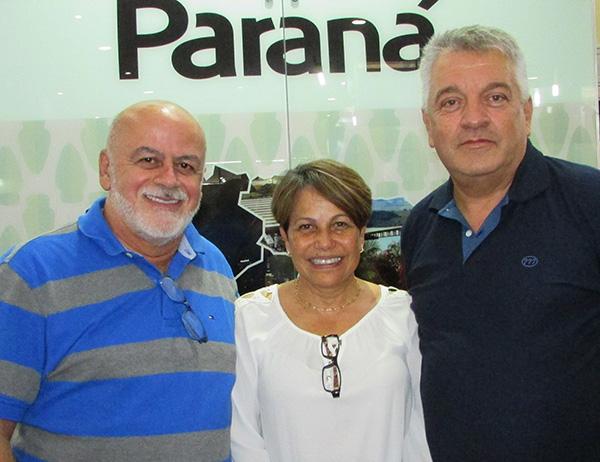 Aldo, Deise e Paulo, finalistas na categoria Top Tur (Foto Divulgação)
