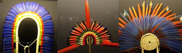Arte plumária, bela e colorida (Fotos Panorama do Turismo)