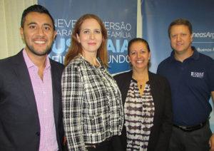Juan, Cristiane, Rosângela e Pedro Kempe, esse, diretor da Abav-PR (Fotos Panorama do Turismo)