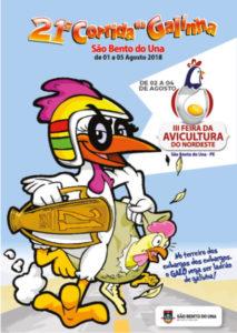 Coluna Volta ao Mundo por Nelci Seibel: Poster Corrida da Galinha