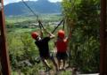 Tirolesa dupla, experiência diferente
