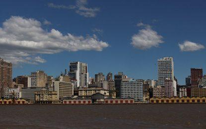 Nas águas do Guaíba